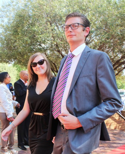 Freedom Front Plus leader in the Free State, Wouter Wessels, accompanied by his wife, Tammy.