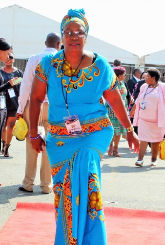 The ANC Women's League chairperson, Mapaseka Nkoane, makes her way to the State of the Province Address.