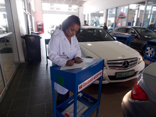 Chearne Hendricks ready to write a 'perscription' for a client's car.