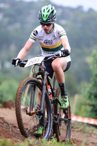 Although Novus OMX Pro MTB Team's Cherie Redecker is the current Elite Women's Log Leader, the overall title will only be decided at the fifth and final round of the Stihl 2016 SA XCO Cup Series, which takes place at Happy Valley Conservancy in Bloemfontein on Saturday 18 June. PHOTO: DARREN GODDARD