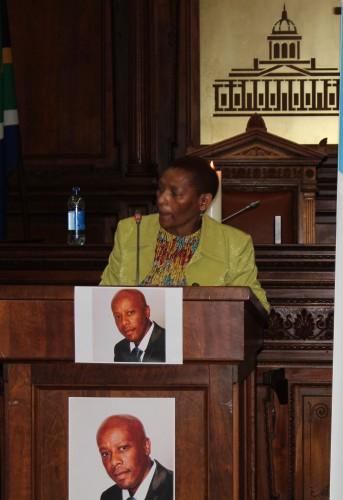 The speaker of the Free State Legislature, Mamiki Qabathe. Photo: Mark Steenbok