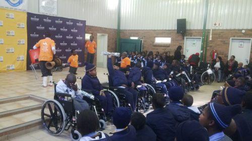 Tswellang Special Intermediate School wheelchair donation 2
