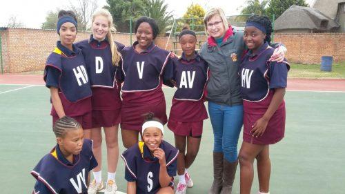Sannies se o.14-netbalspan het onlangs die wenners van hul liga geword toe hulle die Hoërskool Bloemfontein met 24-19 gewen het.