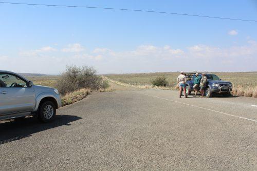 Boere van Smithfield in samewerking met die polisie het vroeer die gebied gefynkam. Foto: Mark Steenbok.