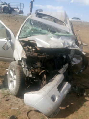 Three people were killed and three others sustained various injuries in a head on collision on the N8 approximately 40 kilometres outside of Bloemfontein this morning.