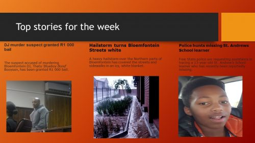 Top stories of the past week