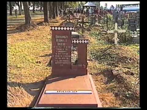 Reggie Hadebe's grave site/youtube