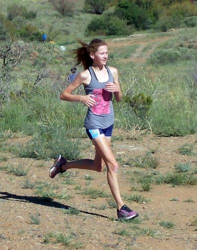 The 17 year old Tyler Benning surprised friend and foe when she crossed the finish line way ahead of any female competitor at the last of the Castle Lite trail run series on Saturday. PHOTO: MANIE SMITH