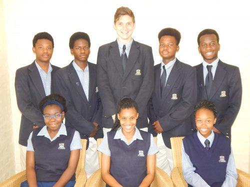 The 2017 monitors of Curro High School are, at the back: Karabo Senyane, Mbongeni Nogomezulu, Dillion MacDonald, Masedi Ranyane and Tlotliso Nstielo. In front are Nompumelelo Siyonzana, Regene Phetlo and Karabo Senoko.