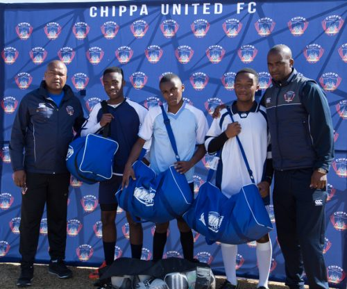 Chippa United FC donated soccer kits and equipment to the school.