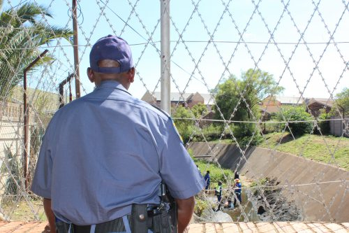 Part of the channel the men used to approach the Westerbloem Old Age Home for the robbery. Photo: Mark Steenbok