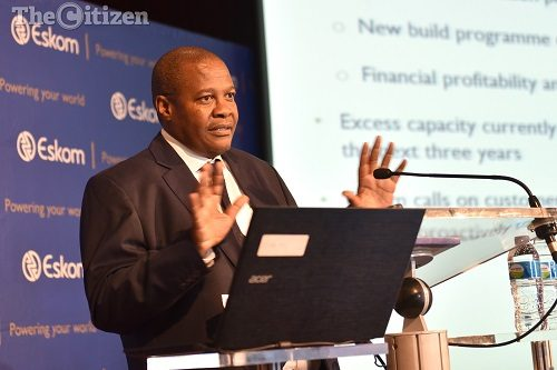 Brian Molefe Throws Up His Hands.Image: SUPPLIED