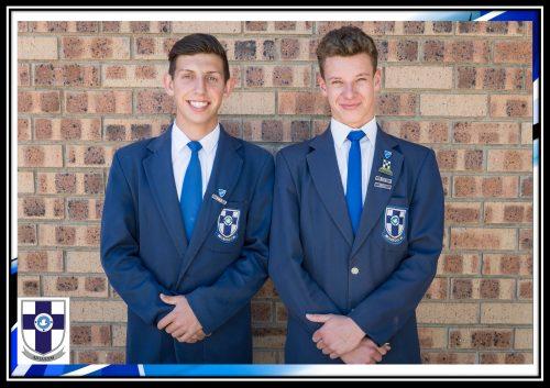 Ruhandre Donogue (onderhoofleier) en Kyle Badenhorst (hoofleier) is Martie du Plessis-skool se leiers vir 2017.