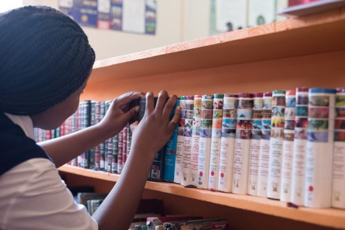 The school has two libraries, encouraging learners to read more often.
