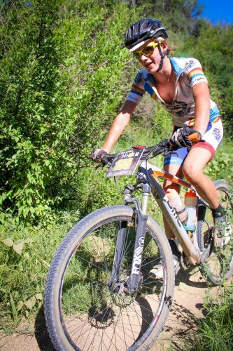 """The 15-year-old De Klerk Jacobs of Grey College impressed during the Bloem 24 Hour MTB race to claim third overall all in the men's open class. Despite being beaten by Francois du Toit, who is 43 years his senior, he is determined to learn from the """"old toppies"""". PHOTO: MORGAN PIEK"""
