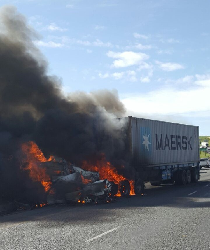 Accident on N3 leaves 3 dead, as car bursts into flames
