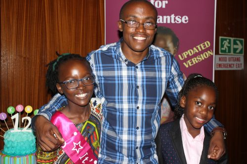 Reikantse Manaka, Ace Moloi and Stacey Fru. Moloi is a well established published author who offered the girls a few words of encouragement at the launch of their books.