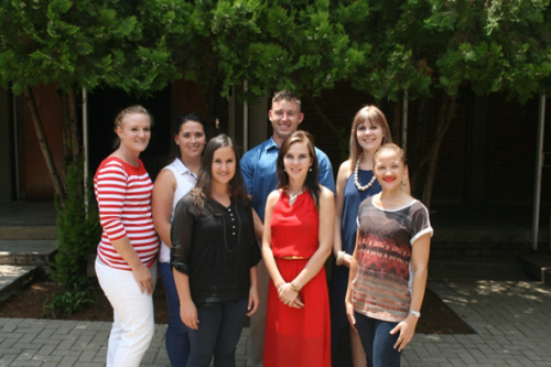 New teachers at Onze Rust are from the left: Jana Oberholzer, Zané Smit and Maurese van der Ross. At the back are Jo-Lene Greyling, Marelize Swiegers, Kobus Lombaard and Anschen Ebersöhn.