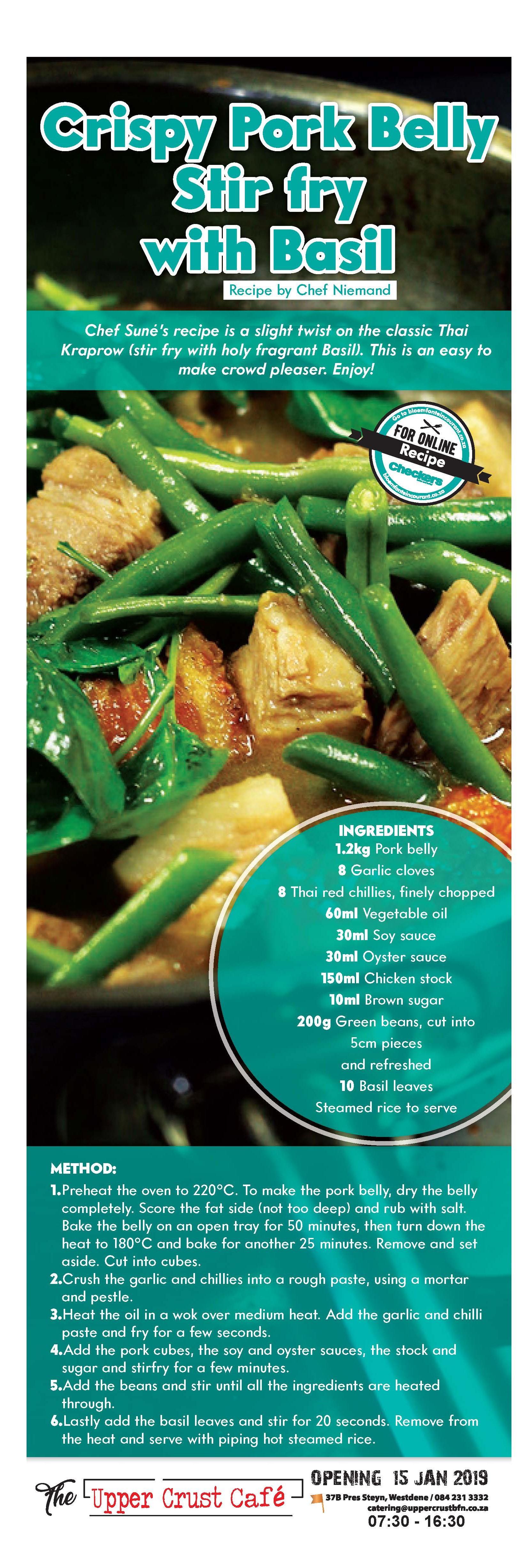 Crispy Pork Stir Fry