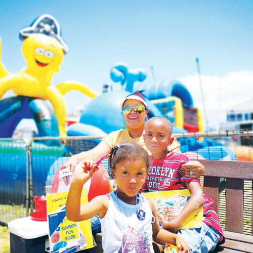 Mom Udeatt Felix and her children, Udinn (7) and Alzeefa (2) are looking forward to the free kids entertainment that will form part of the Jeffreys Bay Beach Carnival on Easter Saterday this year.